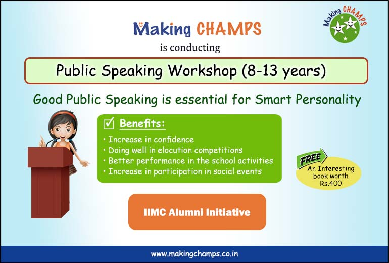 Workshop for Children : Confidence Building & Public Speaking