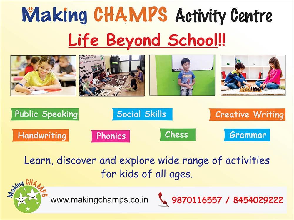 After-School Classes for children in Navi Mumbai (Vashi, Koperkhairane, Ghansoli)