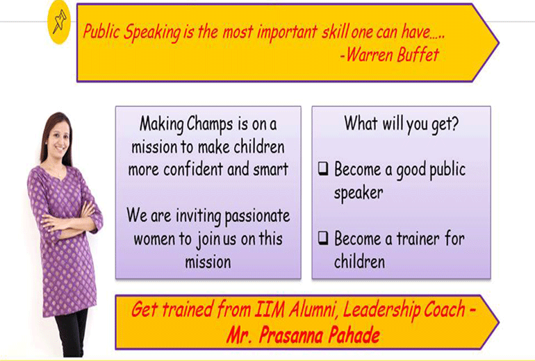Become a certified Public Speaking Trainer for children